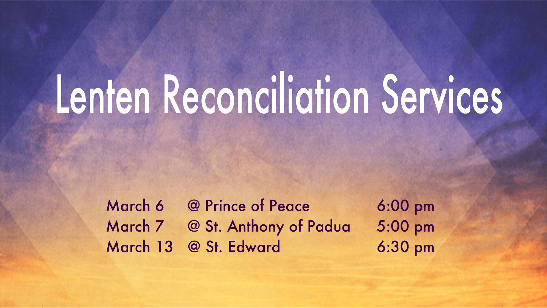 Lenten Reconciliation